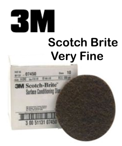 3M Scotch Brite - Very Fine  8 inch Disc Maroon
