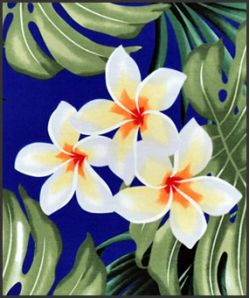 Hawaiian Surfboard Fabric Inlay - BLUE CC