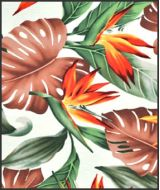 Hawaiian Surfboard Fabric Inlay - BROWN BB