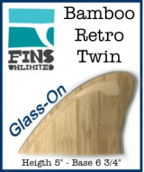 Glass On - Fins Unlimited Retro Twin Marine Bamboo