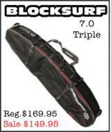 BlockSurf 7.0 Triple Surfboard Bag