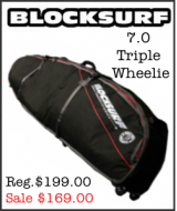BlockSurf 7.0 Triple Wheelie Surfboard Bag