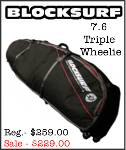 BlockSurf 7.6 Triple Wheelie Surfboard Bag