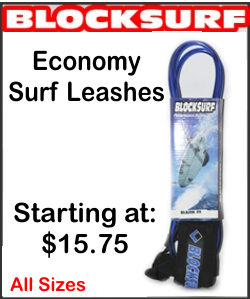 "Block Surf  ""Blazin"" Surfboard Leash - All Sizes"