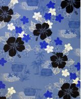 Hawaiian Surfboard Fabric Inlay - Blue EE
