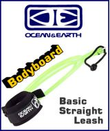 Ocean & Earth Bodyboard Basic Straight Leash