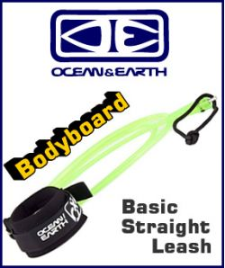 '=Ocean & Earth Bodyboard Basic Straight Leash