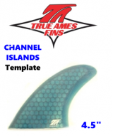 "Glass On - True Ames 4.5"" CI Tri Fin Set (small)"
