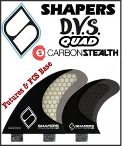 Shapers STEALTH DVS Quad Set (non-keel)