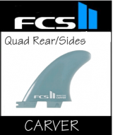 FCS II Quad Rear / Side Bite  Carver Composite Twin set