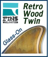 Glass On - Fins Unlimited Retro Wood Twin Marine Plywood