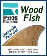 Glass On - Fins Unlimited - WOOD FISH