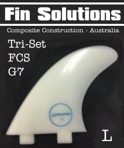 Fin Solutions Thruster Fin Set - G7 FCS Twin Tab Base