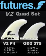 Futures V2 F4 Quad Fin Set