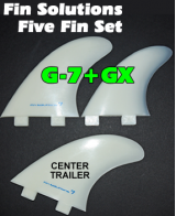 Fin Solutions G-7 + GX w/FCS Twin Tab Base - Five Fin Set