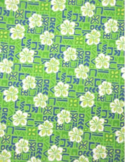Hawaiian Surfboard Fabric Inlay - Green BB