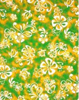 Hawaiian Surfboard Fabric Inlay - Green DD