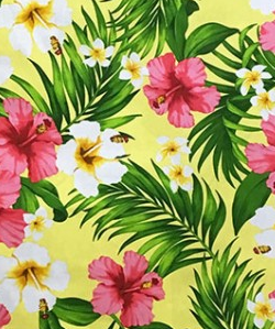 Hawaiian Surfboard Fabric Inlay - YELLOW CC
