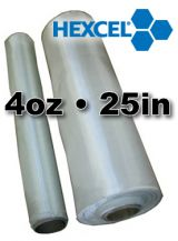 Fiberglass Cloth Hexcel  4oz x 25 Wide
