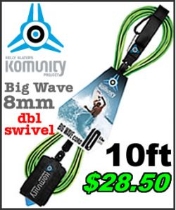 Komunity Standard Surf Leash - 10ft Big Wave