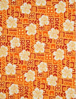 Hawaiian Surfboard Fabric Inlay - Orange AA