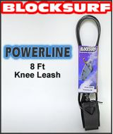 Block Surf  8 FT Powerline Knee Surf Leash