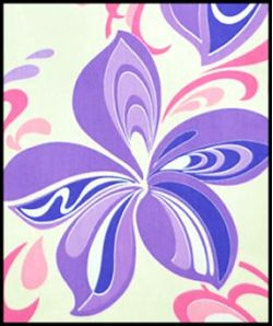 Hawaiian Fabric Inlay - PURPLE (DD)