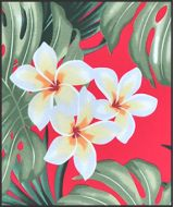 Hawaiian Surfboard Fabric Inlay - RED BB