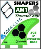 Shapers Core Lite AM1 Thruster Fin Set