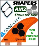 Shapers Core Lite AM2 Thruster Fin Set