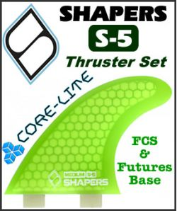 Shapers Core Lite S-5 Thruster Set