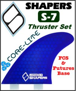 Shapers Core Lite S-7 Thruster Fin Set
