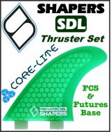 Shapers Core Lite S6 Thruster Fin Set