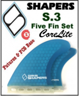 Shapers CoreLite S3 - Five Fin Set