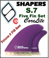 Shapers CoreLite S7 - Five Fin Set