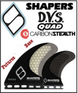 Shapers STEALTH DVS Quad Fin Set non-keel
