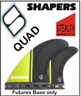 Shapers Carbon Stealth Series Quad Set - Futures Base