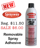 SprayWay Removable Spray Adhesive