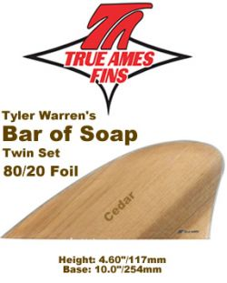 Glass On - True Ames Twin Fin Set Bar of Soap (Wood)