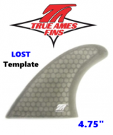 "Glass On - True Ames 4.75"" Lost Tri Fin Set"