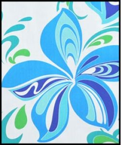 Hawaiian Surfboard Fabric Inlay - BLUE AA