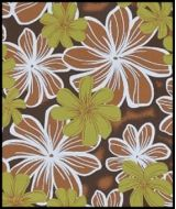 Hawaiian Surfboard Fabric Inlay - BROWN AA